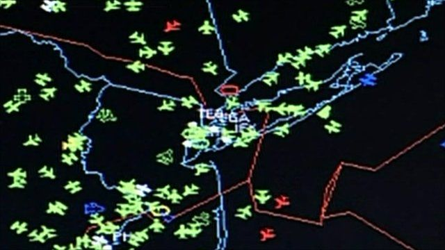 Air traffic control display
