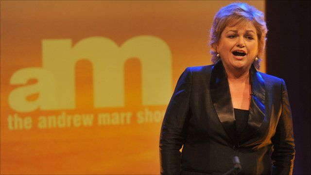 Soprano Susan Bullock performs on the Andrew Marr Show