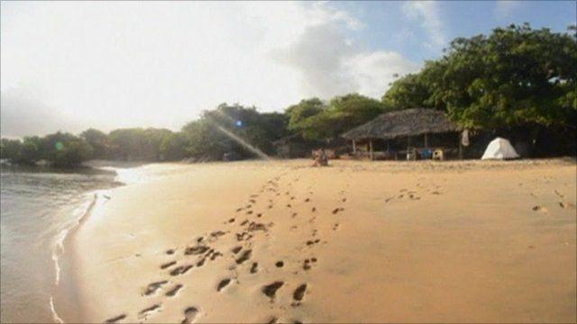 Beach in Kiwayu Safari Village, Kenya