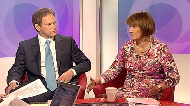 Grant Shapps and Tessa Jowell