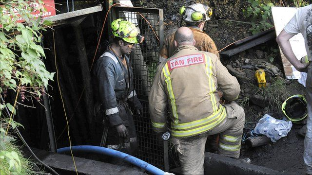 Rescuers at Gleision Colliery