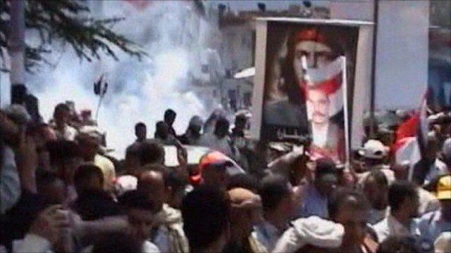 Clashes in Taiz