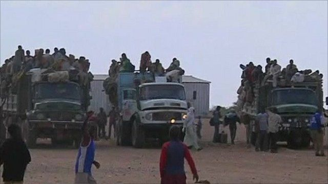 People arriving in Niger from Libya