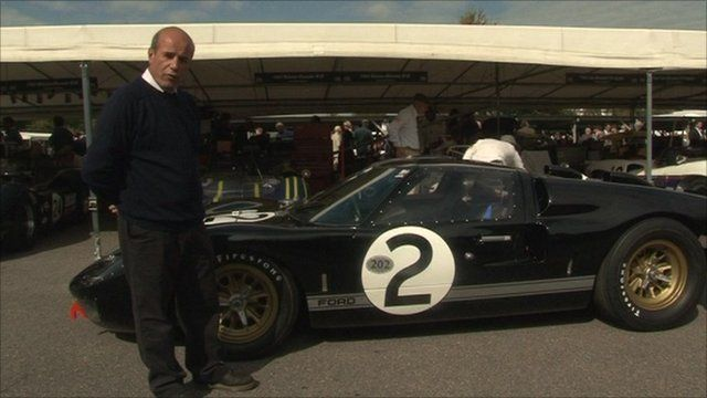 Paul Laznante, shows the BBC around a Ford GT40