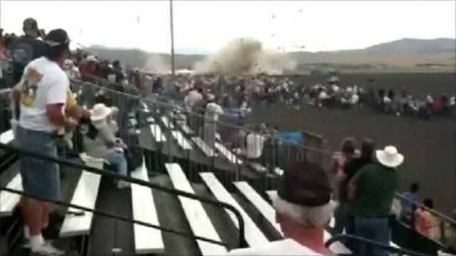 Plane crashing to the ground