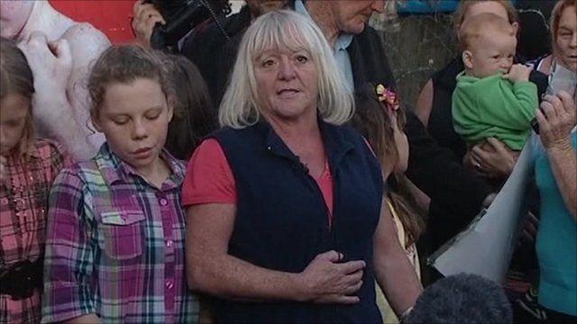 Dale Farm resident Kathleen McCarthy