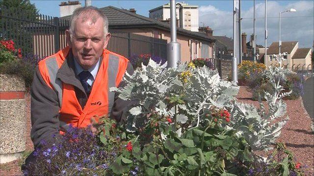 Station gardener Louis Wall