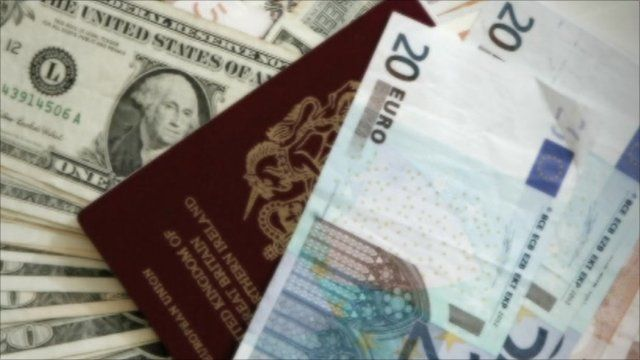 Foreign currency and passport