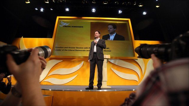 Nick Clegg at the Liberal Democrat party conference