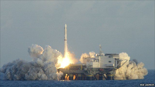 A Zenit blasts away from the Sea Launch Odyssey platform