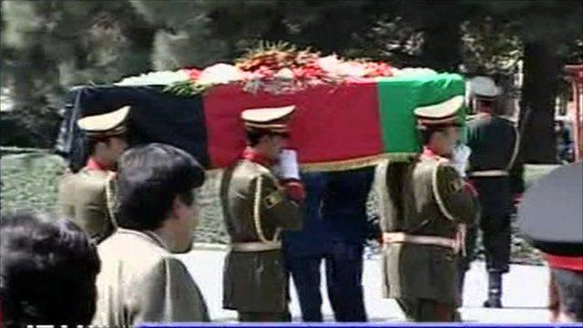 Coffin of Burhanuddin Rabbani