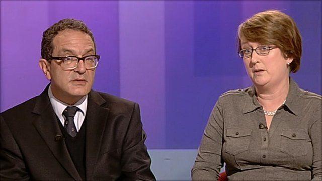 Lord Glasman and Jacqui Smith