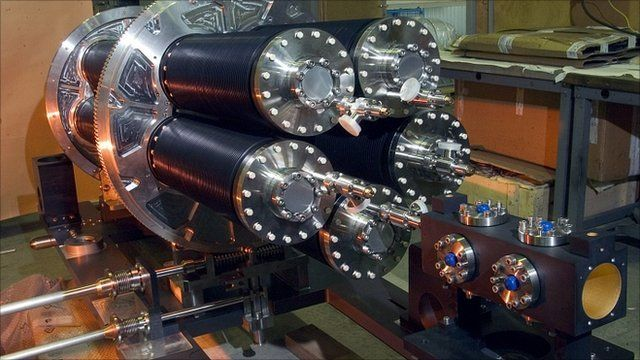 """Equipment at the Italian National Institute of Nuclear Physics INFN""""s Gran Sasso Laboratory in Rome"""