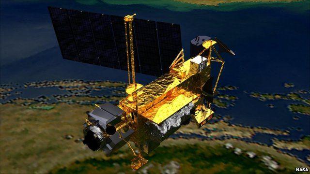Conceptual image of satellite