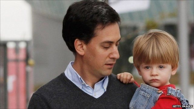 Ed Miliband with son