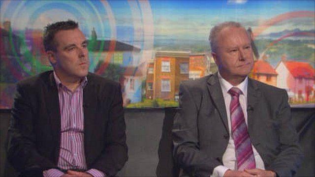 Jim Downie and Alex Neil MSP