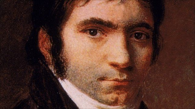 Portrait of German composer Ludwig van Beethoven (1770 - 1827),