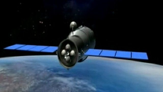A 3D animation of the Tiangong-1 space module