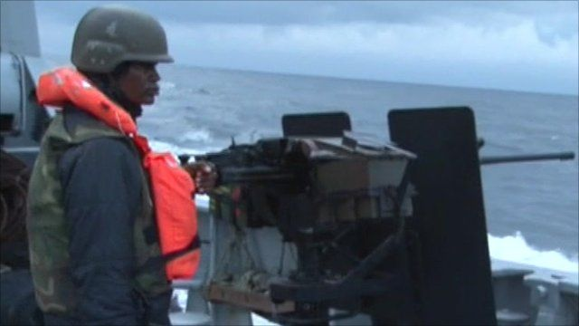 Man on patrol boat