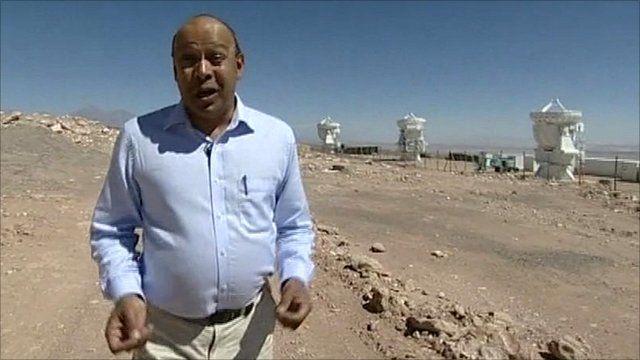 BBC's Pallab Ghosh in the Atacama desert