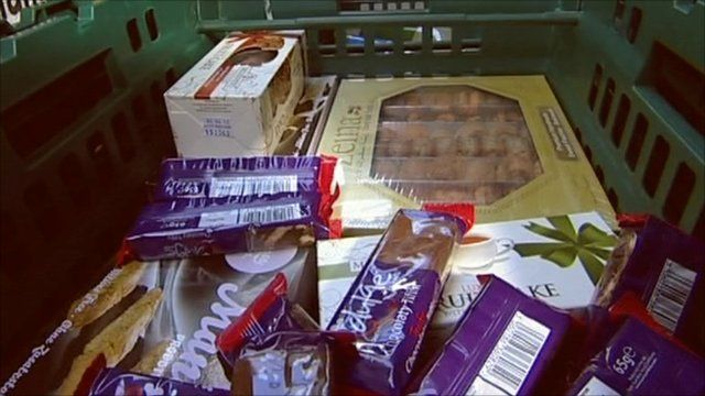 Food in crate