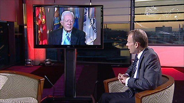Jimmy Carter speaks to Andrew Marr