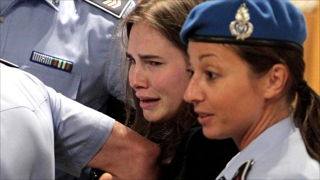 Amanda Knox leaves Perugia's Court of Appeal