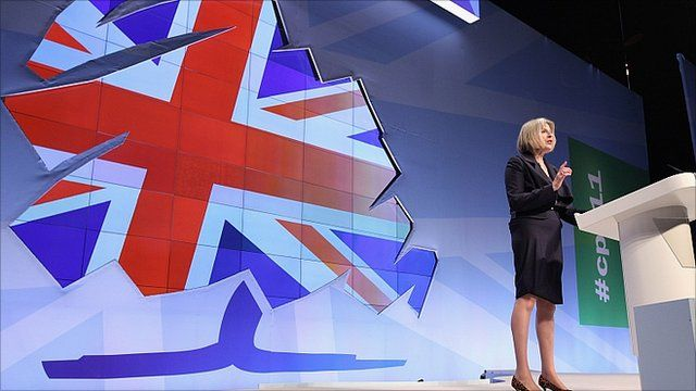 Teresa May at the Conservative Party Conference