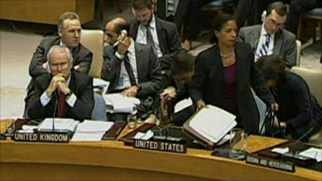 Susan Rice walks out of UN meeting