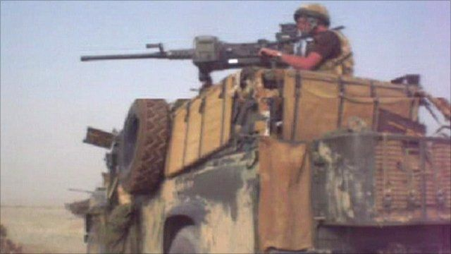 Coalition forces in Helmand in 2006