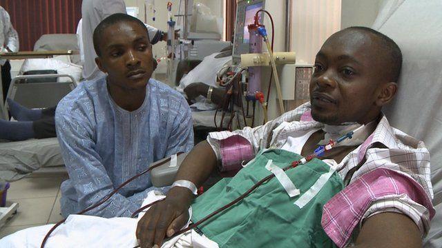 Kidney transplant patient in Nigeria