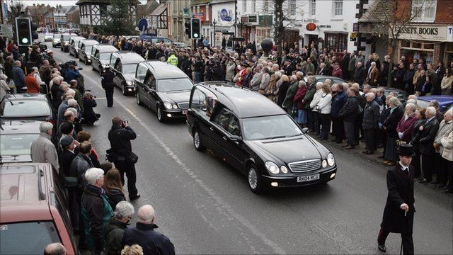 Onlookers pay their respects in Wootton Bassett