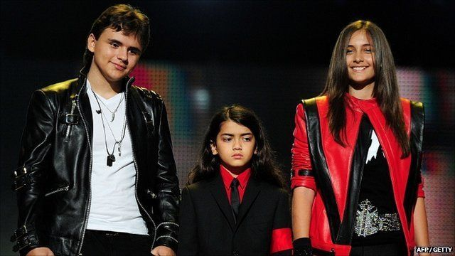 Michael Jackson's children Prince, Blanket and Paris at the Michael Forever gig