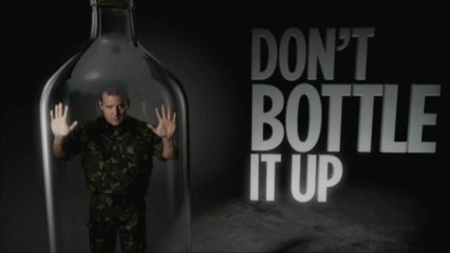 "Ad campaign ""Don't bottle it up"""