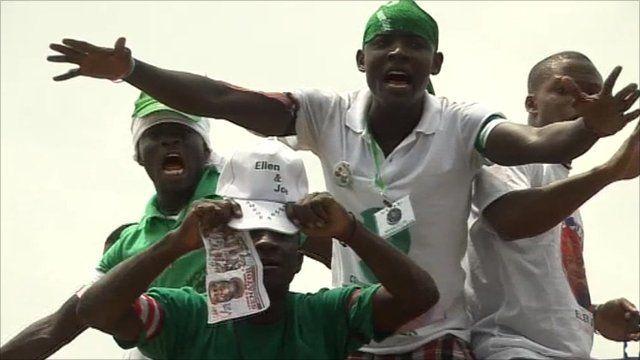 Ellen Johnson Sirleaf supporters