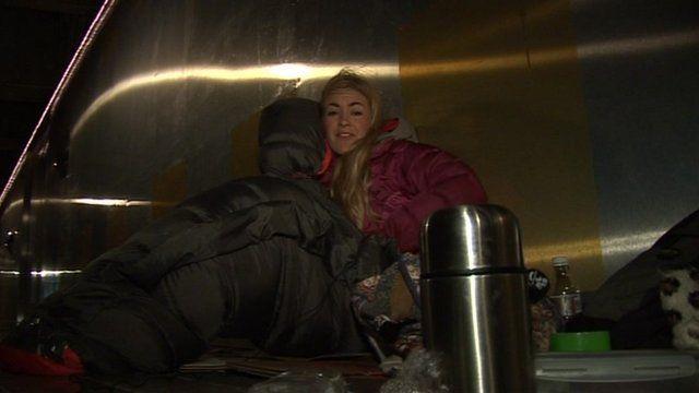 Hayley's night on the street