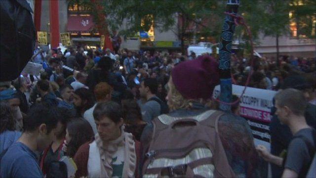 Wall Street demonstration