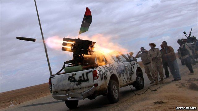 Fighters near Bani Walid