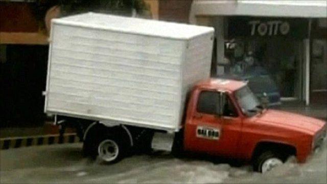Stranded truck