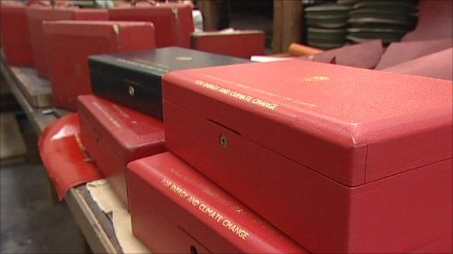 Ministerial red boxes