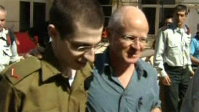 Gilad Shalit and his father