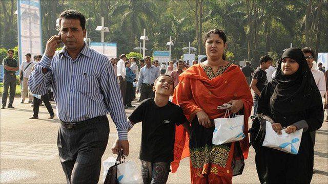 Mobile phone user, Bangladesh; photo credit Telenor