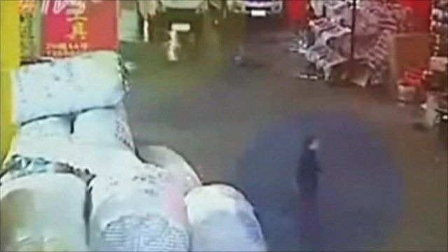 CCTV image of two-year-old girl