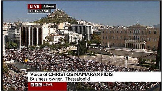 Christos Mamarampidis explains why he does not support the protests in Greece.