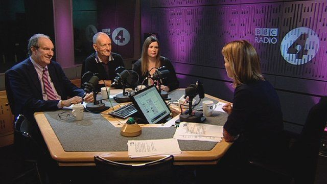 Stephanie Flanders is joined by Will Hutton (L); David Roche (M) and Nicola Horlick (R)