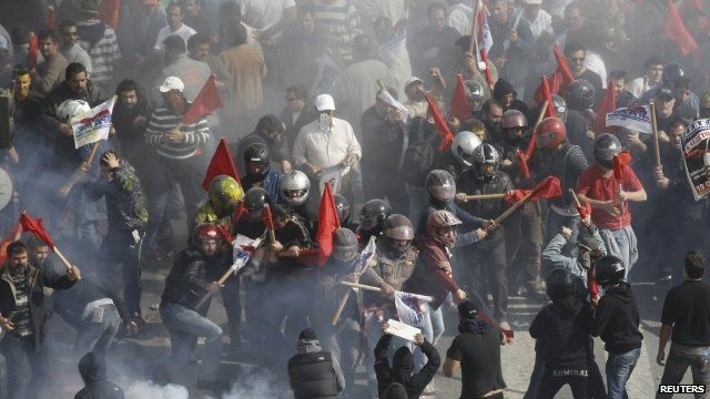 Clashes in Athens