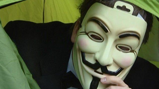 Nick Watt at Occupy Stock Exchange demonstration