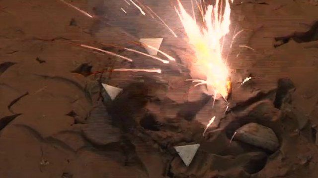 Triangles filled with gun powder during tejo game