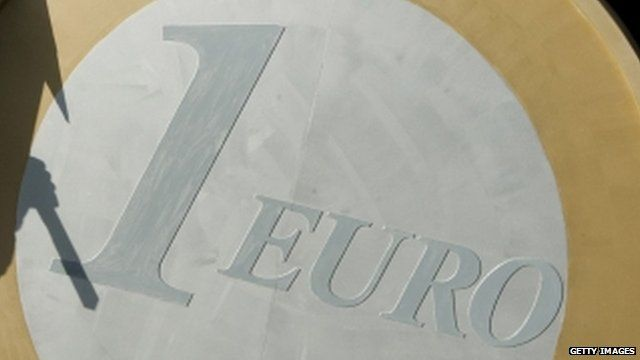 Euro on protest sign