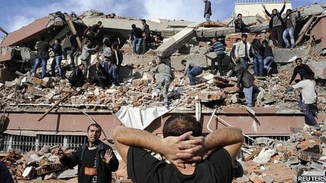 Collapsed building in Turkey